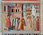 Benozzo Gozzoli. La Rinuncia degli averi, chiesa di San Francesco, Montefalco.