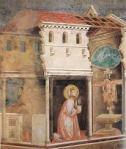 Giotto. San Francesco e il Crocefisso di san Damiano. Basilica superiore di S. Francesco. Assisi.